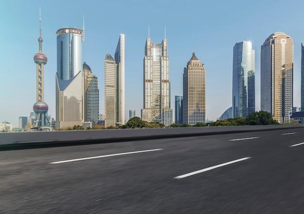Arquitetura horizontal panorâmico panorâmico moderno asfalto