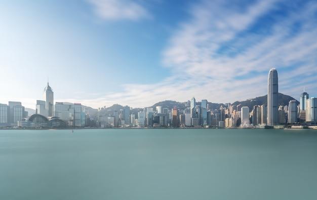 Arquitetura moderna da cidade de hong kong paisagem horizonte