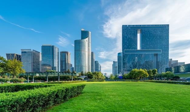 Arquitetura moderna de horizonte urbano
