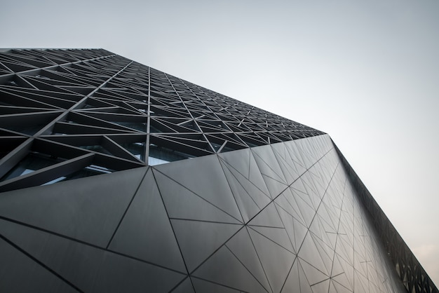 Arquitetura moderna do art center em chongqing, china