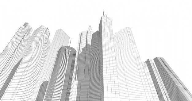 Arquitetura moderna em uma bela metrópole