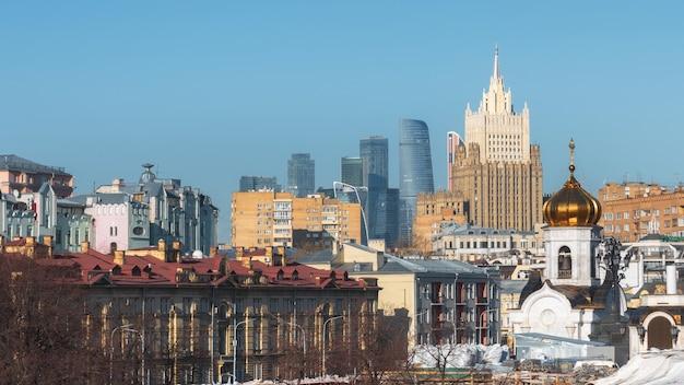 Arquitetura. moscou. rússia. skyline de moscou. arquitetura russa.