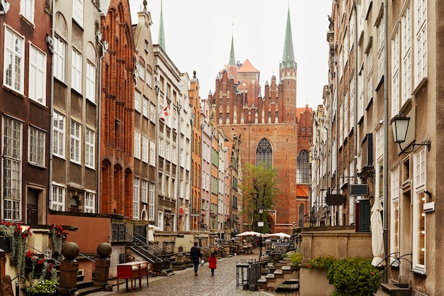 Arquitetura na cidade velha de gdansk.
