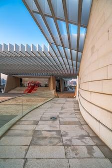 Arquitetura urbana moderna paisagem de fundo Foto Premium