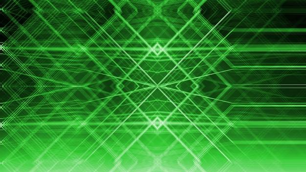 Arquitetura verde abstrata de geometria na janela de vidro