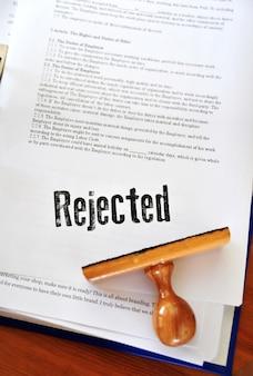 Arquivos de negócios rejeitados