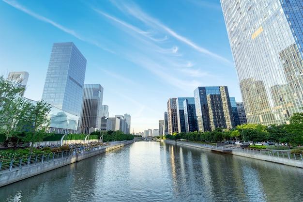 Arranha-céus da cidade moderna, china ningbo cbd.