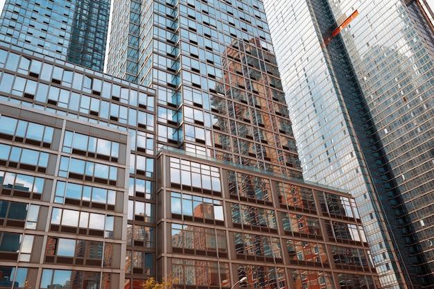 Arranha-céus e edifícios em manhattan. arquitetura de manhattan e nova york
