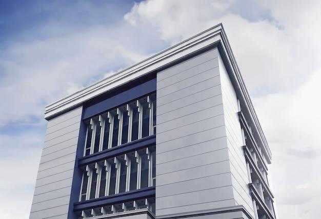 Arranha-céus modernos bonitos dos prédios de escritórios