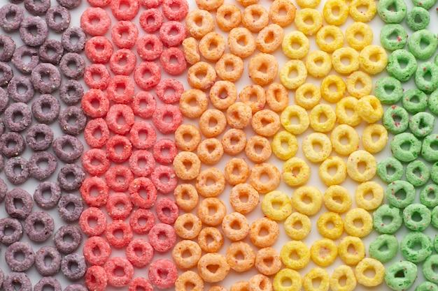 Arranjo colorido de cereais