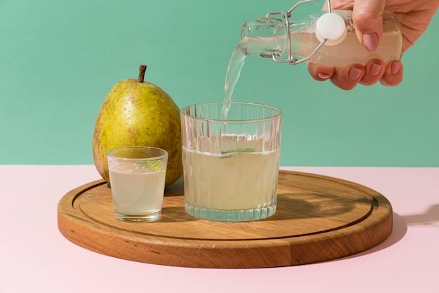 Arranjo com deliciosas bebidas fermentadas