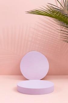 Arranjo criativo de palco minimalista