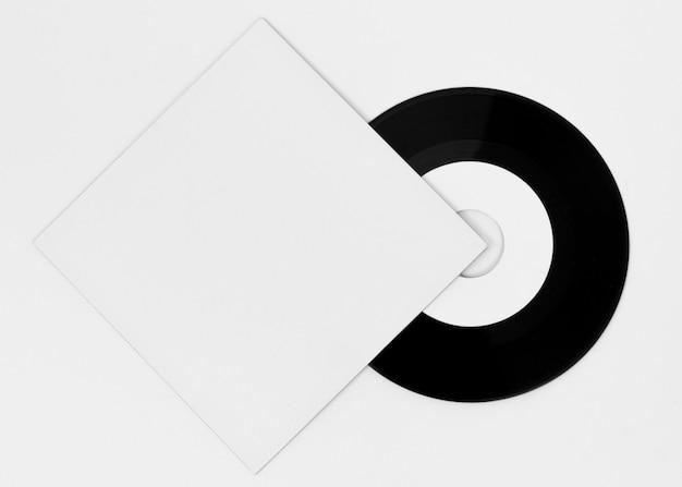 Arranjo da embalagem de vinil em branco