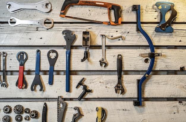 Arranjo da vista superior com ferramentas