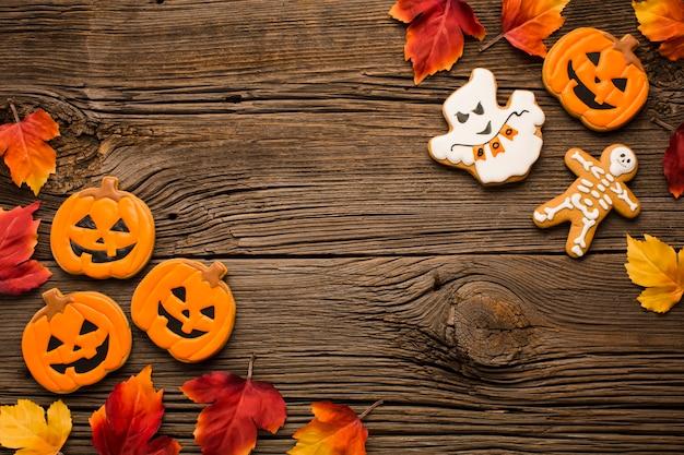 Arranjo de adesivos de festa de halloween