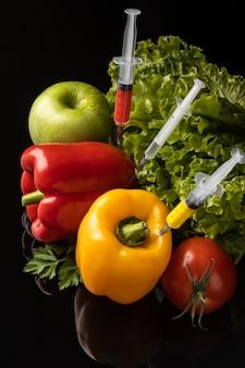 Arranjo de alimentos modificado por ogm