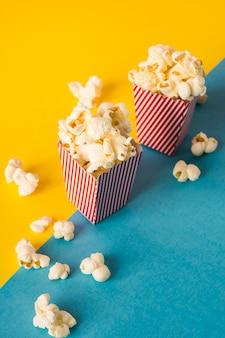 Arranjo de alimentos para cinema de alto ângulo