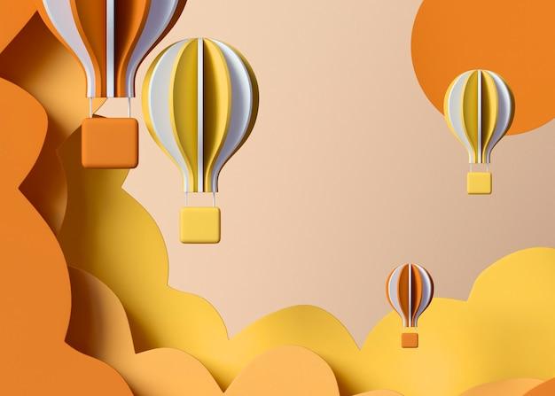 Arranjo de balões de ar quente