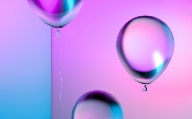 Arranjo de balões gradientes