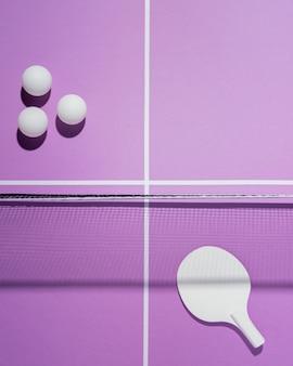Arranjo de bolas de badminton plano