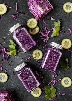 Arranjo de comida saudável para aumentar a imunidade