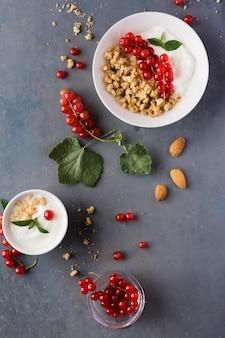 Arranjo de conceito de comida saudável