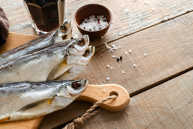 Arranjo de deliciosos frutos do mar