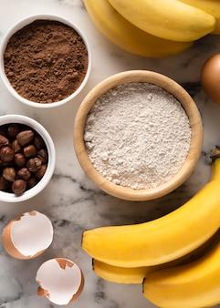 Arranjo de deliciosos ingredientes de receitas saudáveis