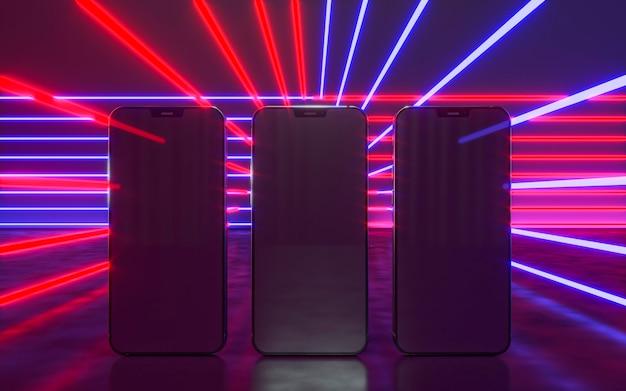 Arranjo de dispositivos com luz neon