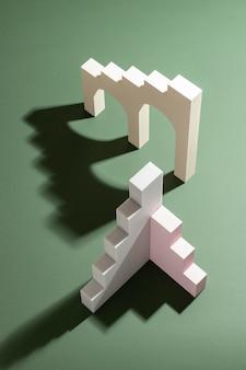 Arranjo de elementos de design renderizados 3d