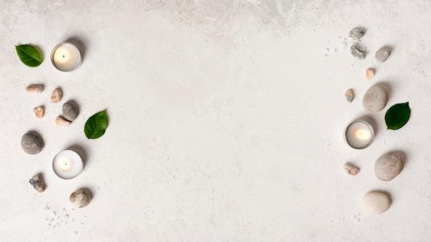 Arranjo de elementos de spa plana leigos