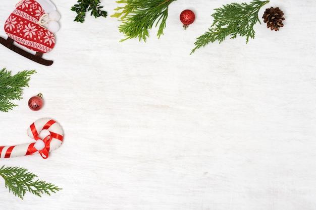 Arranjo de enfeites de natal vintage