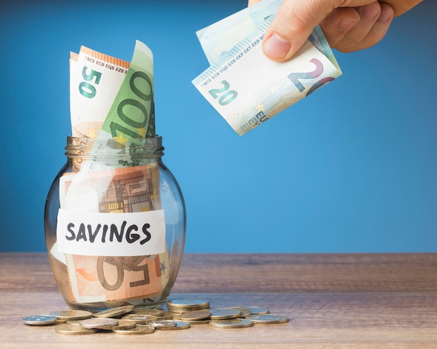 Arranjo de finanças com economia de notas
