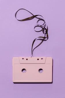 Arranjo de fita cassete vintage