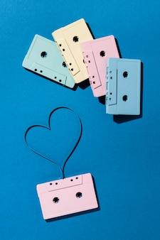 Arranjo de fitas cassete vintage