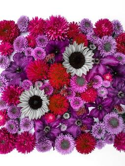 Arranjo de flores de girassóis e ásteres