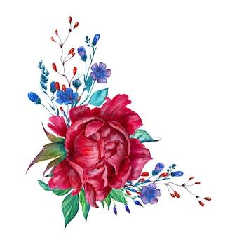 Arranjo de flores em aquarela 2