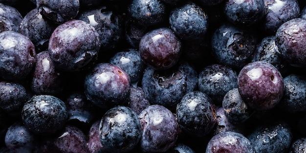 Arranjo de frutas deliciosas de perto