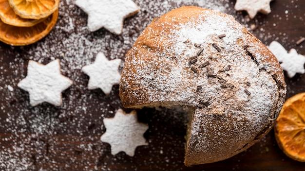 Arranjo de guloseimas festivas de natal