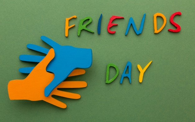 Arranjo de natureza morta para o dia da amizade