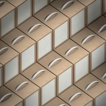 Arranjo de pacotes de produtos isométricos