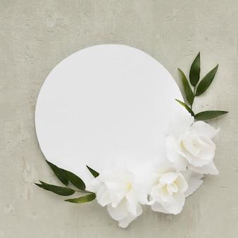 Arranjo de placa plana leiga para casamento