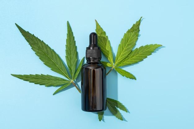 Arranjo de produtos de cannabis orgânica