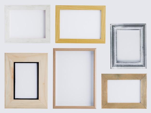 Arranjo de quadros minimalista plana leigos