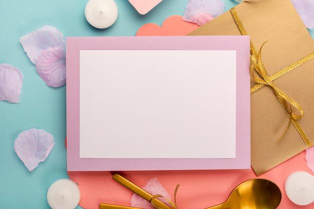 Arranjo de quinceañera plana leigos com cartão