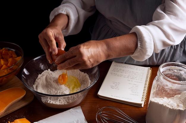 Arranjo de torta de abóbora