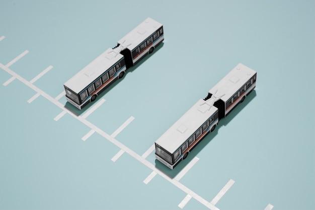 Arranjo de transporte público de alto ângulo