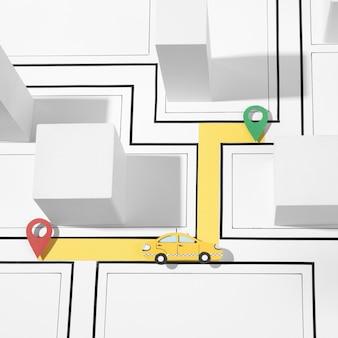Arranjo de transporte público plano