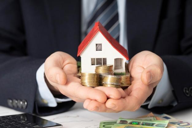 Arranjo dos elementos das contas da casa