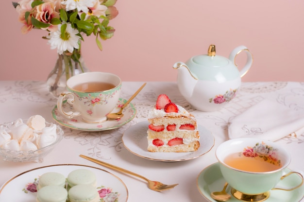 Arranjo elegante de chá